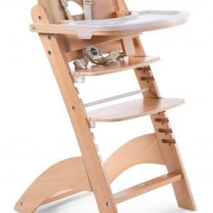 chaise haute en bois pour enfant