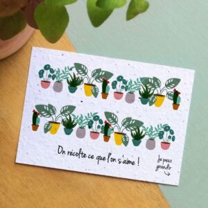 Jolie carte à planter