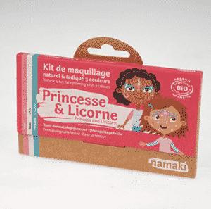 L'univers des contes de fées : princesse, fée, papillon, sirène, ,,, Le kit comprend 3 fards de couleurs