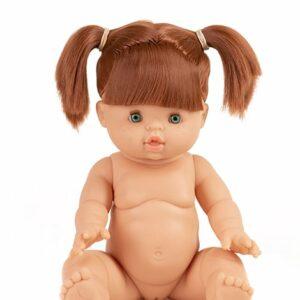 Gabrielle, poupée exclusive Minikane®. – 34cm – Cheveux coiffés avec couettes – Yeux verts Poupée en vinyle et parfumée à la vanille.