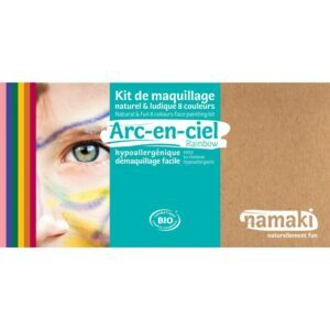 Déguisez-vous dans l'univers coloré de l'arc-en-ciel avec Namaki : coccinelle, pirate, chien, panthère rose, clown, perroquet…