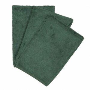 Lot de 3 gants de toilettes ultra doux. Fait en éponge de bambou. Existe dans divers couleurs. Cape de bain, bavoir, bandana, drap de lit , ...