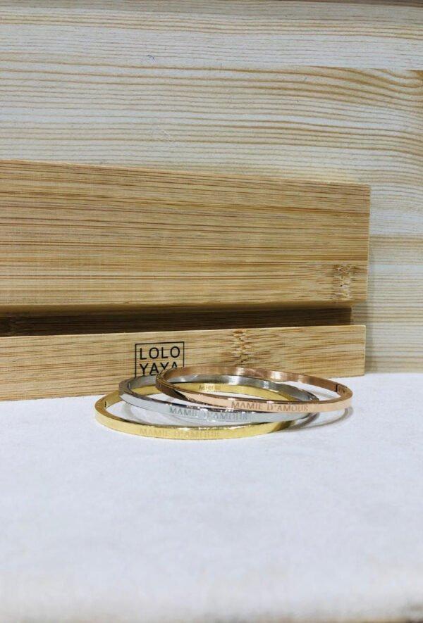Bracelet jonc bracelet phrase bracelet message